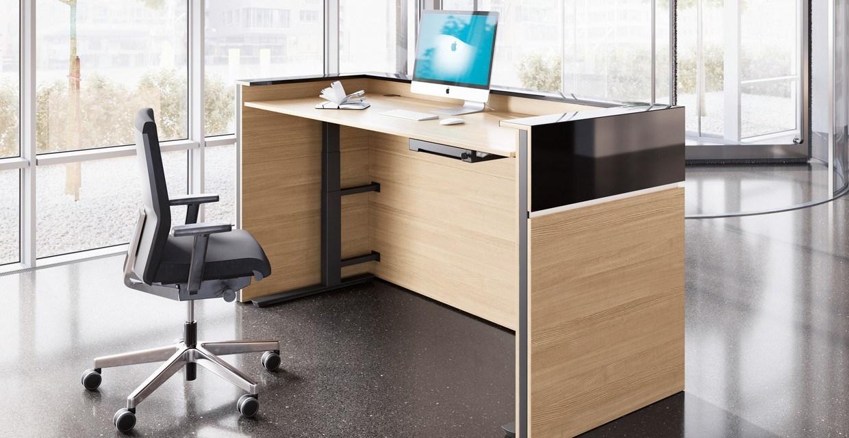 Palmberg hoogteverstelbaar receptiemeubel Heering Office Den Haag