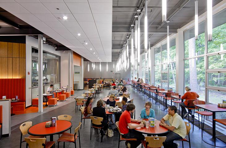 verlichting bedrijfsrestaurant Heering Office Den Haag