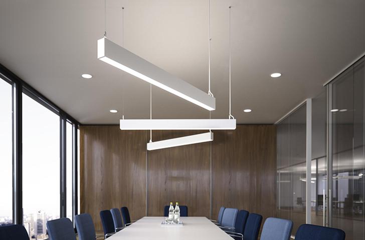 verlichting vergaderzaal Heering Office Den Haag