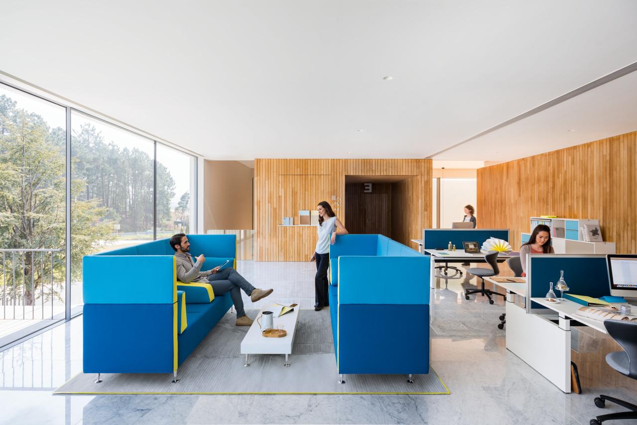 Sedus ontvangstmeubilair - loungemeubilair Heering Office Den Haag 2