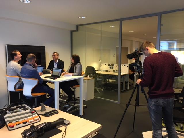 TV West opname reclamefilm Heering Office Den Haag