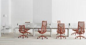 Herman Miller kantoormeubelen Den Haag cosm chairs bureaustoel Heering Office