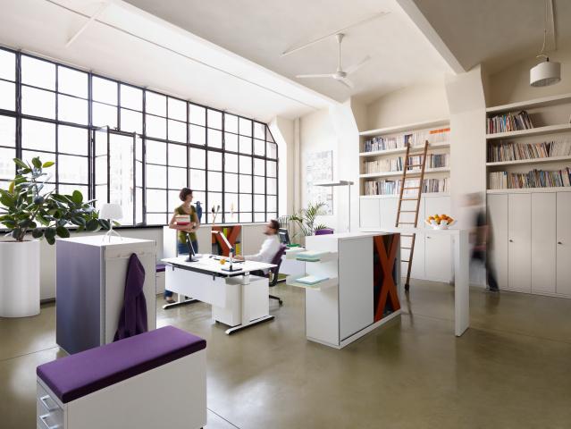Sedus kantoormeubilair werkplek 3 Heering Office