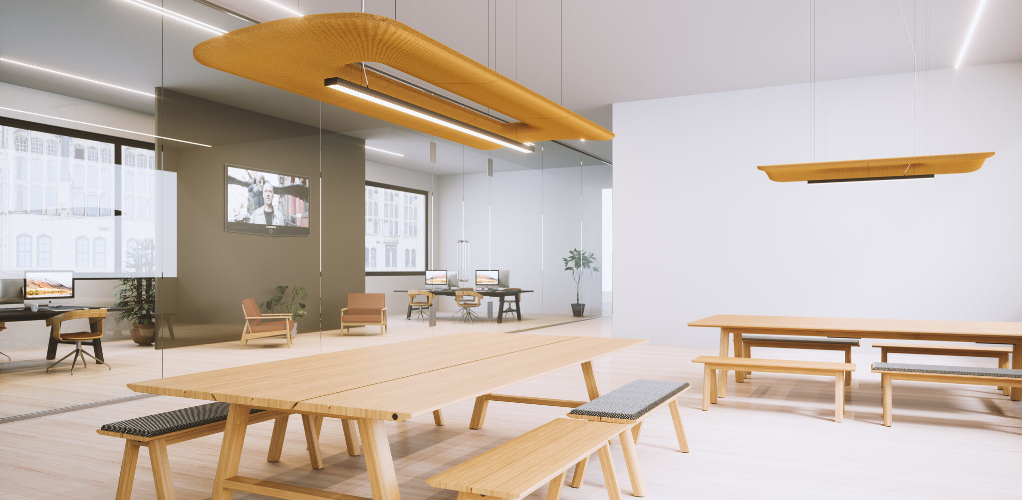 akoestisch plafond Heering Office Den Haag