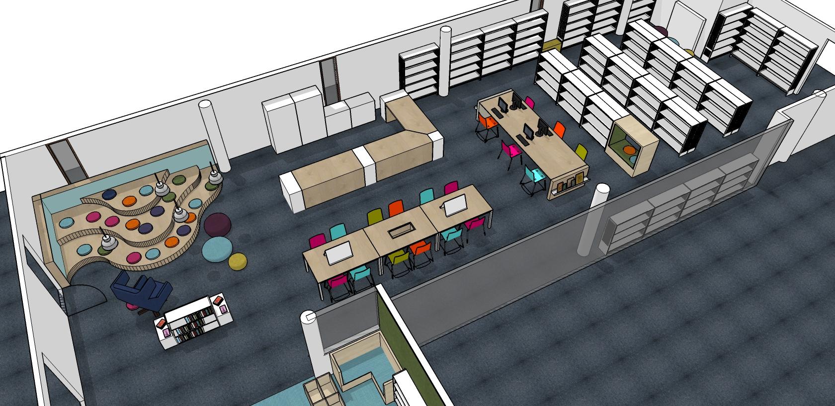maatwerkproject kinderbibliotheek Heering Office Den Haag overzicht