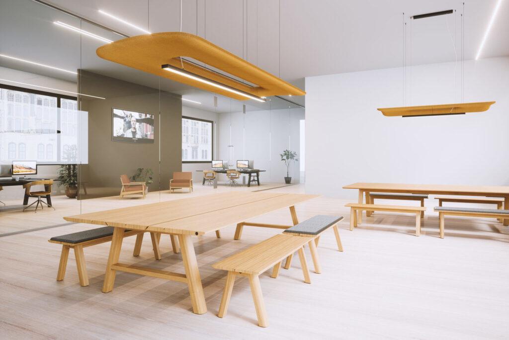 Buzzi Space plafond akoestiek Heering Office Den Haag