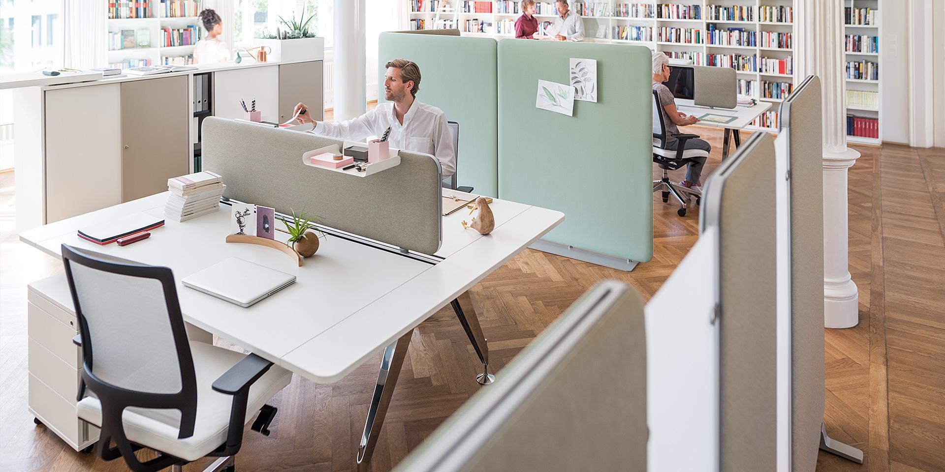 Sedus akoestische scheidingswand - akoestiek Heering Office Den Haag 4