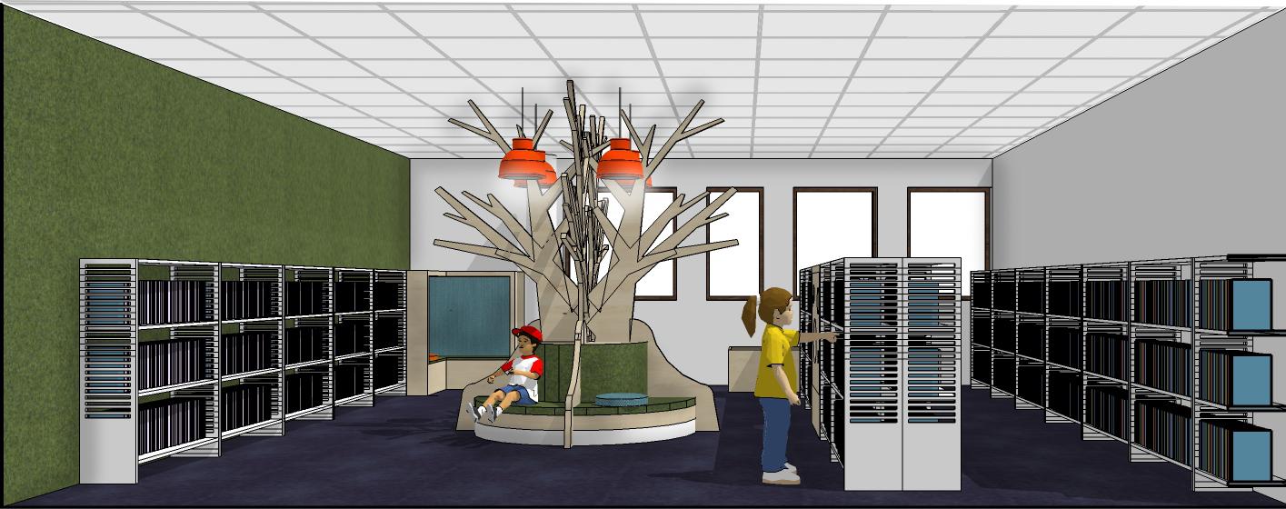 kinderbibliotheek voorleesboom maatwerk Heering Office Den Haag
