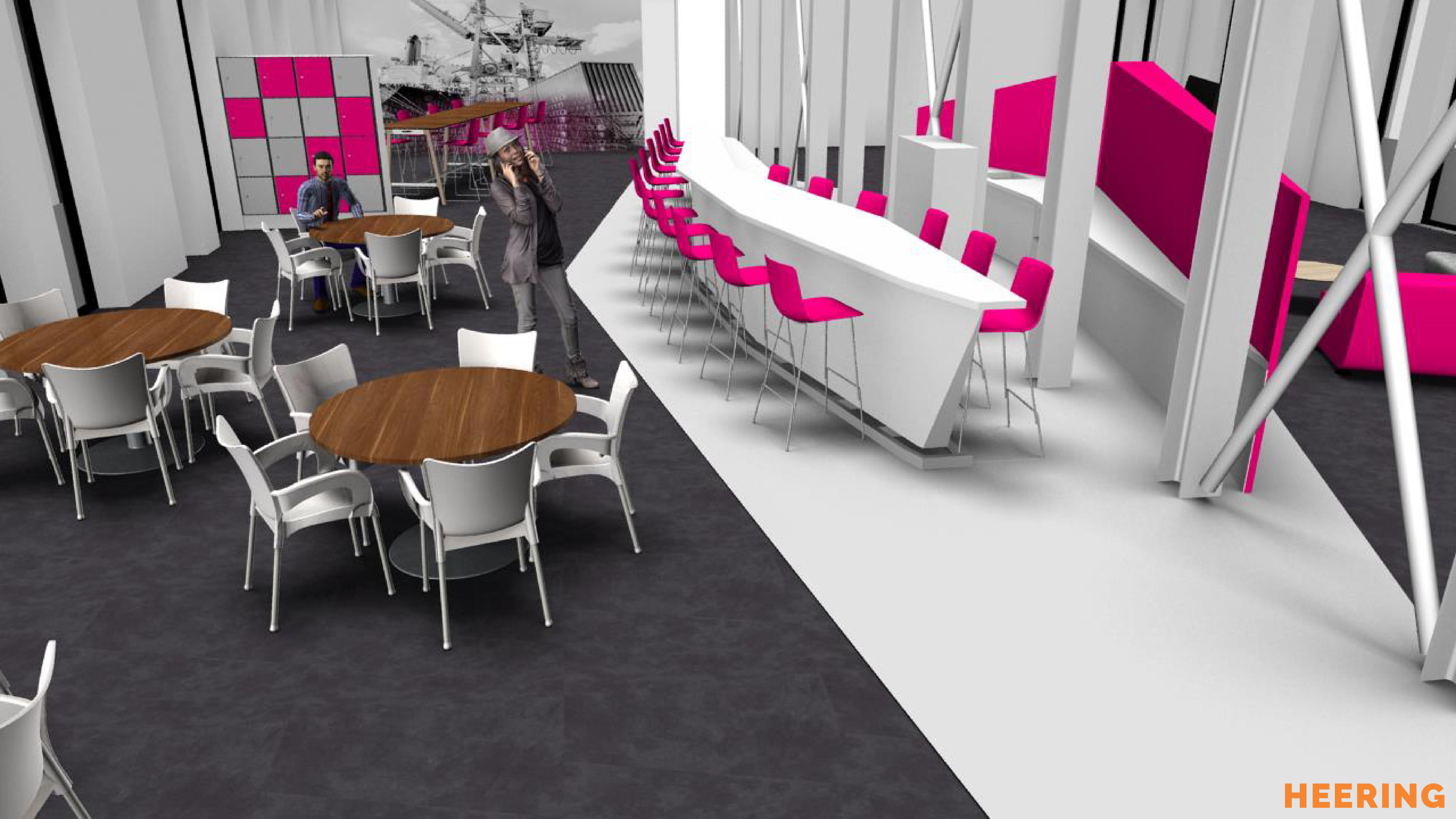 maatwerk keuken en barelement Heering Office Den Haag