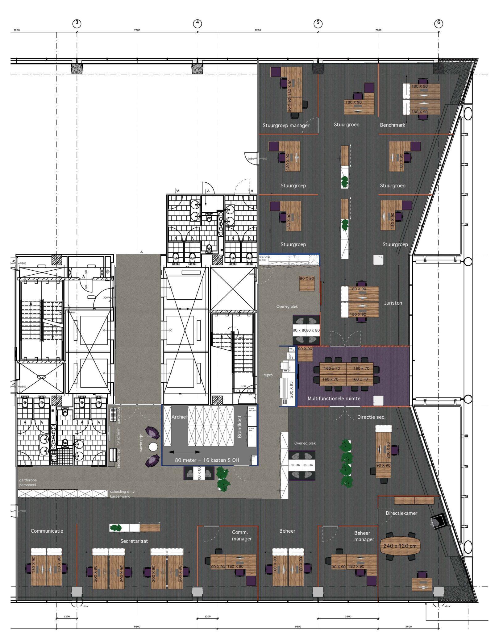 ontwerp tekening Vewin Heering Office Den Haag