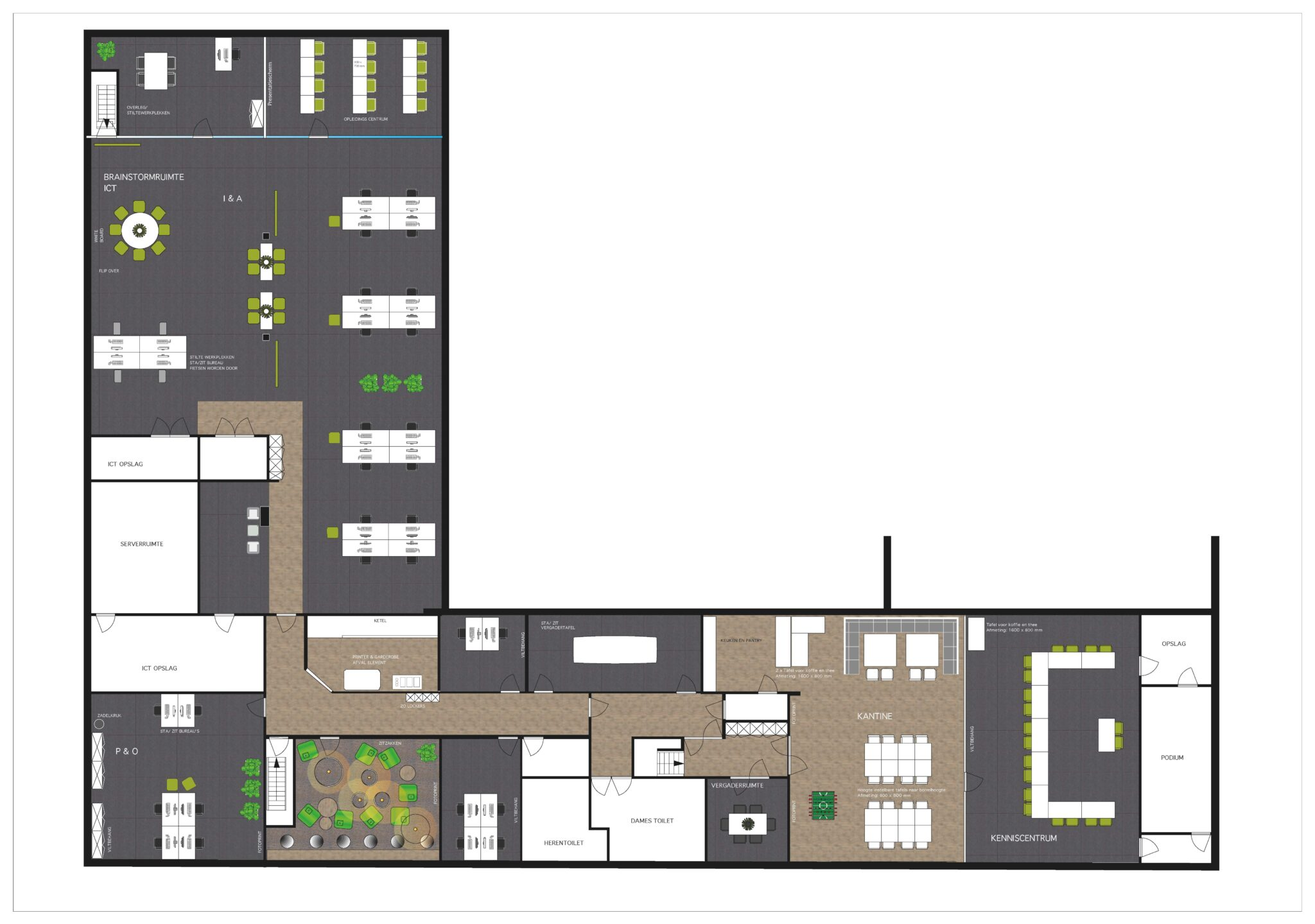 ontwerp tekening woonbron Heering Office Den Haag