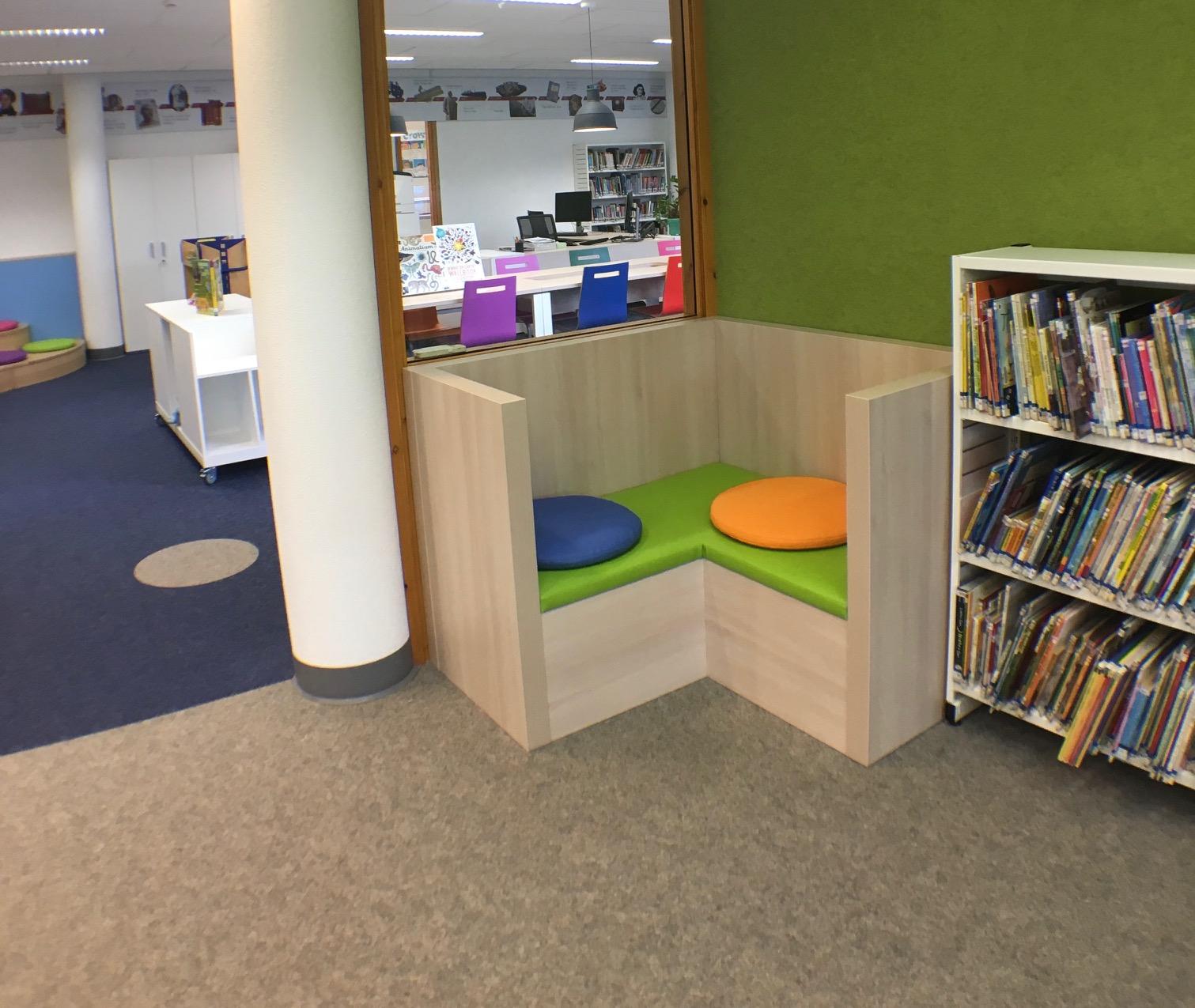 leeshoekje kinderbibliotheek maatwerk Heering Office Den Haag