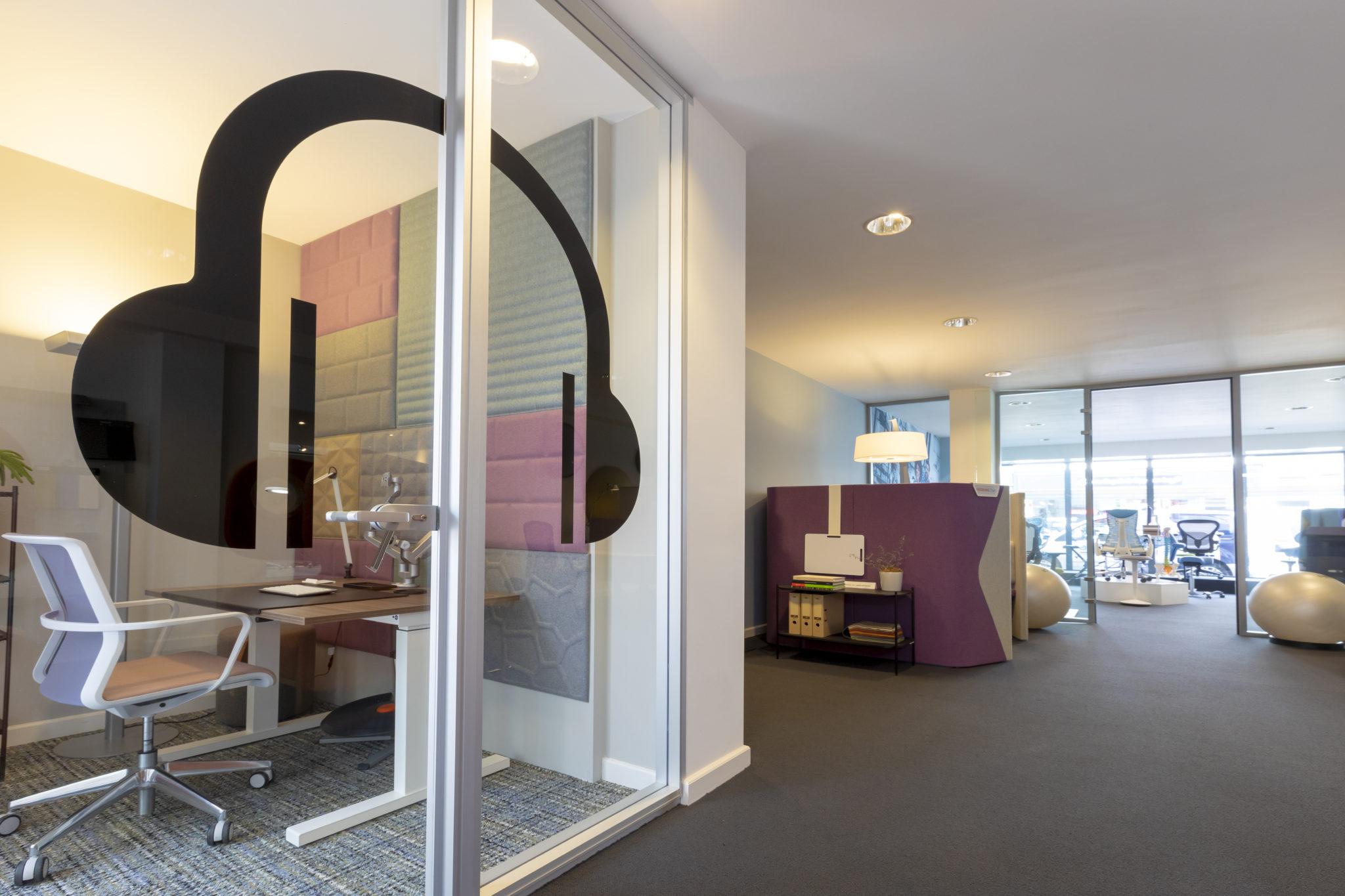 Stilte-unit met scheidingswanden Heering Office Den Haag